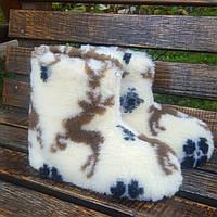 Чуни из овчины с оленями 42-46р