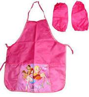 Фартук детский  для труда с нарукавниками для девочки 7906 Мультяшки