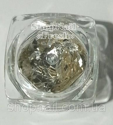 Конфетти серебро, большие ромбы, фото 2