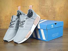 Женские кроссовки Adidas NMD Grey топ реплика