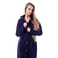 Пальто женское кашемировое на кнопках Виктория, фото 1