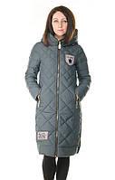 Женская серая зимняя куртка без меха, фото 1