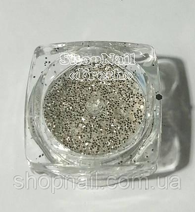 Конфетти серебро, круги мелкие, фото 2