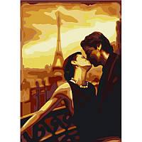 "Картина раскраска по номерам ""Мечтами в Париже"" набор для рисования по схеме"