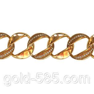 37ea9f1ded6b Массивный женский золотой браслет 585  пробы с круглыми звеньями -  Мастерская ювелирных украшений «GOLD