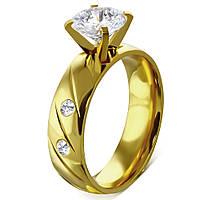 Обручальное кольцо с фианитами 19