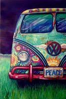 """Картина раскраска по номерам """"Фургончик хиппи"""" набор для рисования"""