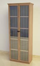 Шкаф Ш75 для виниловых пластинок из натурального дерева