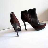 Женские туфли ботильоны на каблуке 38 размер 26см Tomasso Taccardi  классика кожа