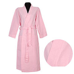 Вафельный халат ТМ Ярослав, розовый