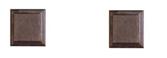 Розетка ПВХ квадратная 80х80 (комплект 2шт)
