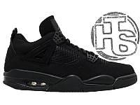 Мужские кроссовки Air Jordan IV Retro Black Cat Black/Black-Light Graphite 308497 002