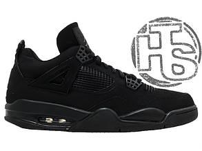 Мужские кроссовки Air Jordan IV Retro Black Cat Black/Black-Light Graphite 308497-002