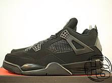 Мужские кроссовки Air Jordan IV Retro Black Cat Black/Black-Light Graphite 308497-002, фото 2