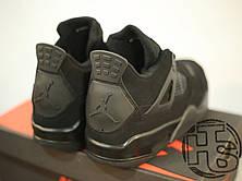 Мужские кроссовки Air Jordan IV Retro Black Cat Black/Black-Light Graphite 308497-002, фото 3