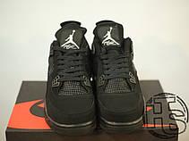 Мужские кроссовки реплика Air Jordan IV Retro Black Cat Black/Black-Light Graphite 308497-002, фото 2