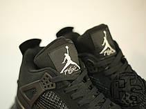 Мужские кроссовки реплика Air Jordan IV Retro Black Cat Black/Black-Light Graphite 308497-002, фото 3