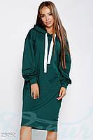 Спортивное платье-туника. Цвет морская волна.