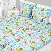 Комплект детского постельного белья из бязи в кроватку ТМ Ярослав