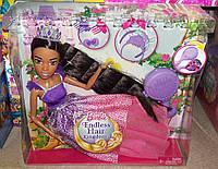 Большая принцесса Барби Сказочно-длинные волосы 43 см Barbie Dreamtopia Endless Hair Kingdom  Brunette, фото 1