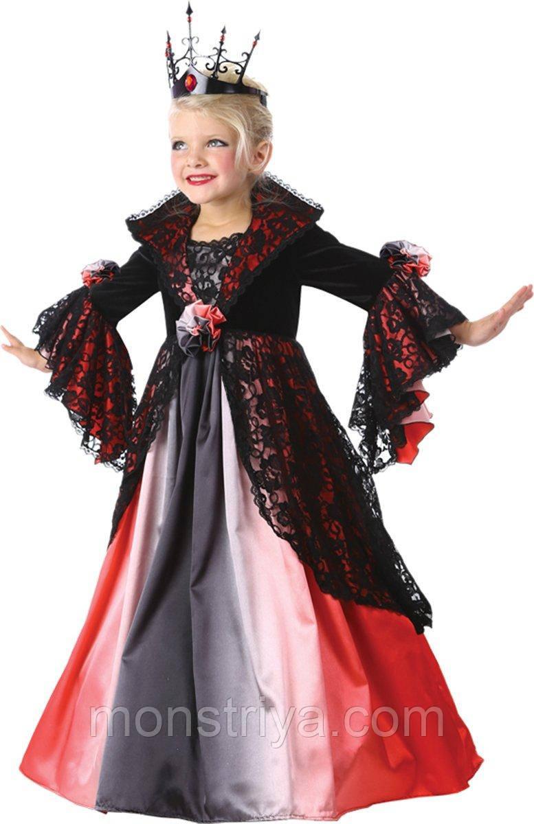 Очень Красивый Карнавальный костюм прекрасной Вампирши Детский