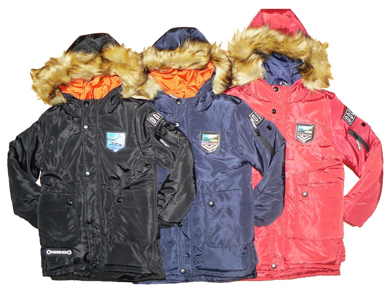 Куртки зимние на меху на мальчика, размер 4-12, Grace, арт. 71662