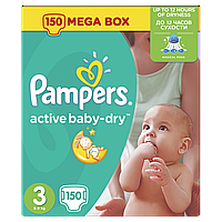Подгузники Pampers Active Baby Midi 3 (4-9 кг) Mega Box 152 шт