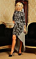 Модное женское платье оригинального кроя размеры от S до 52