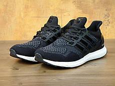 Мужские кроссовки Adidas Ultra Boost Black/White топ реплика, фото 3