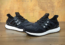 Мужские кроссовки Adidas Ultra Boost Black/White топ реплика, фото 2