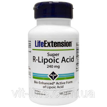 Life Extension, Супер R-липоевая кислота, 240 мг, 60 капсул на растительной основе, фото 2