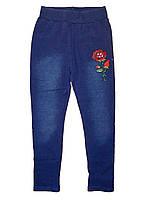 Лосины с имитацией джинсы утепленные для девочек, возраст 8,10 лет, F&D, арт. 9626
