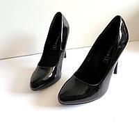 Женские туфли на каблуке 41 размер 26.5.см Tomasso Taccardi  классика лак  857