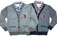 Кардиган с рубашкой обманкой для мальчиков, возраст 3/4-7/8 лет, Buddy Boy, арт. 5545