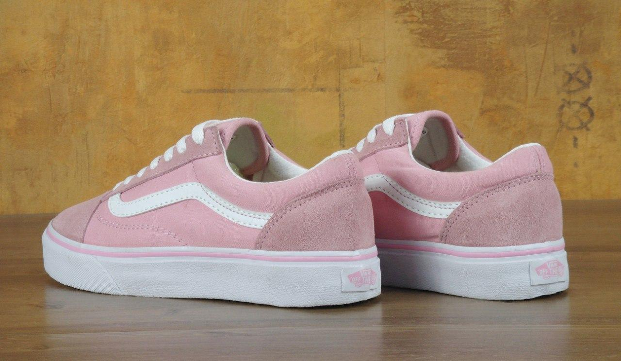3b435a72e530 Женские кеды Vans Old Skool Pink розовые топ реплика