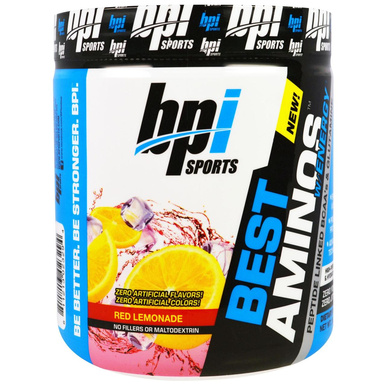 BPI sports Best Aminos w/Energy 300 g, БПаЙ спорт Бест Аминос+ Энержи 300 грамм