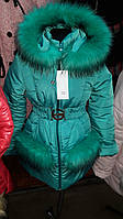 Красивая зимняя куртка-пальто  для девочек