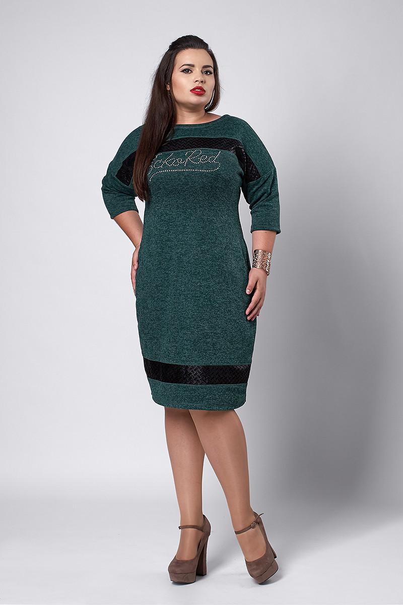 Платье мод №534-2, размеры 50 бутылка