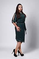 Платье мод №536-3, размеры 54 зеленое