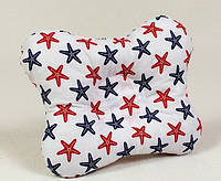 Детская подушка ортопедическая для грудничков бабочка BabySoon Морские звезды