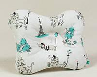 Детская ортопедическая подушка для новорожденных BabySoon Париж