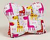 Подушка детская ортопедическая для новорожденных бабочки BabySoon Жирафки