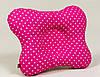 Подушка ортопедическая для младенцев BabySoon Розовая в мелкий горошек