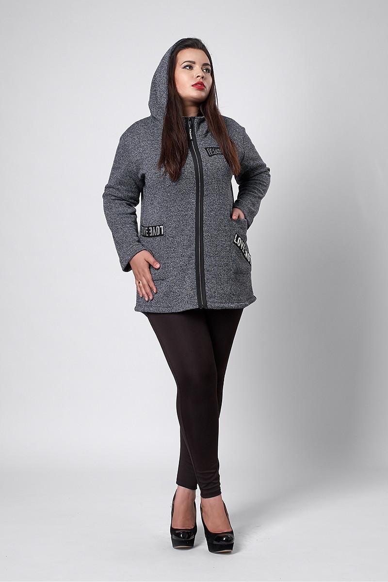 Кардиган мод №288, размеры 50-52,58-60 серый