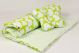 Комплект в коляску BabySoon Яркий Микки одеяло 65 х 75 см подушка 22 х 26 см (108) салатовый