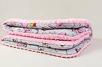 Детское одеяло - плед BabySoon Балеринка розовый