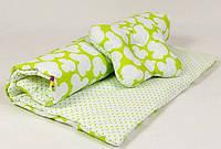 Летний комплект в детскую коляску BabySoon Яркий Микки одеяло 65 х 75 см подушка 22 х 26 см (073) салатовый