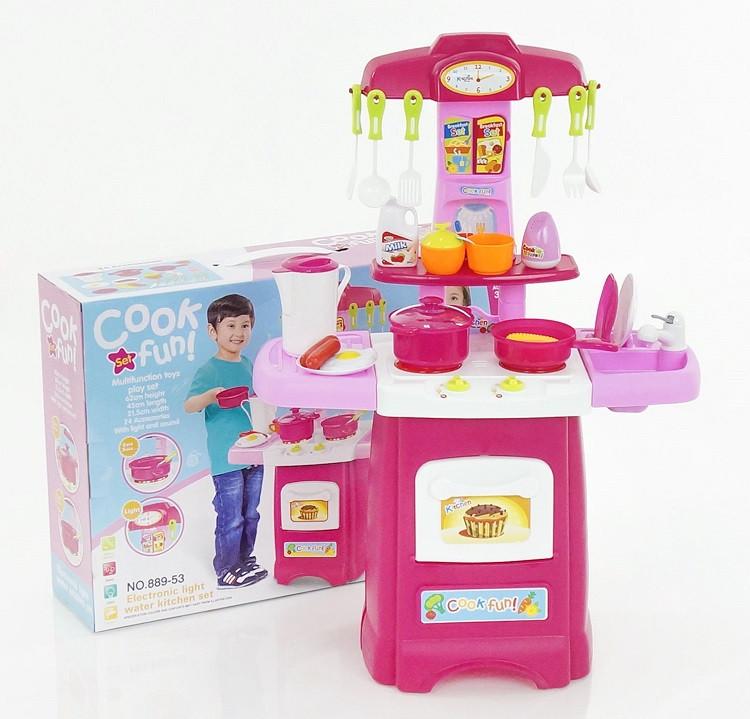 Игровой набор Кухня 889-52-53. 24 предмета. Свет. Звук.