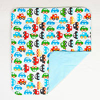 Детский плед-одеяло BabySoon Автомобили (212) бирюзовый