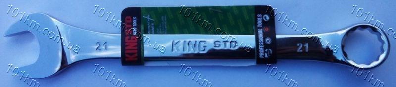 Ключ рожково-накидной King STD 21мм